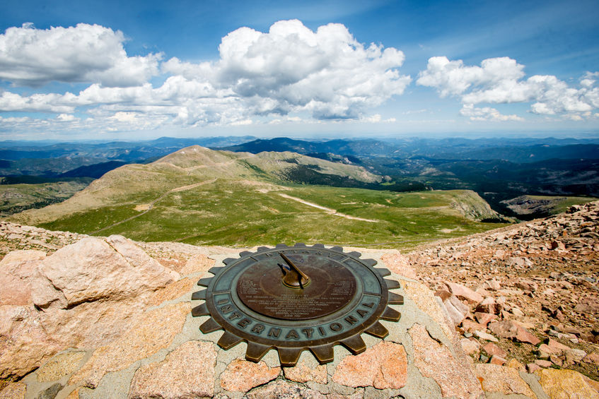 Sundial on top of Mount Evans