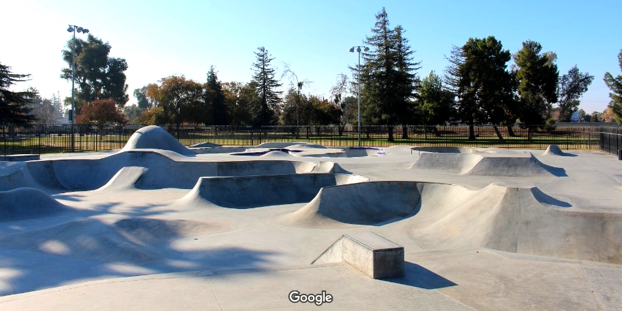 Skate Park Area of Rotary Park in Madera