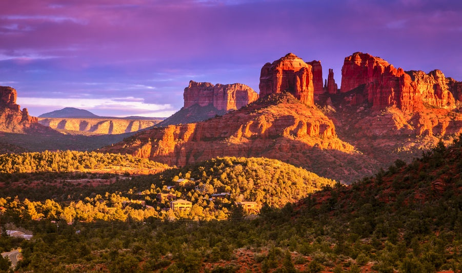 Cathedral Rock near Sedona at Sunset