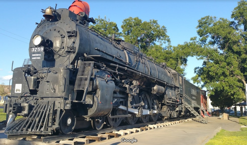 Historic Steam-Powered Train in Locomotive Park