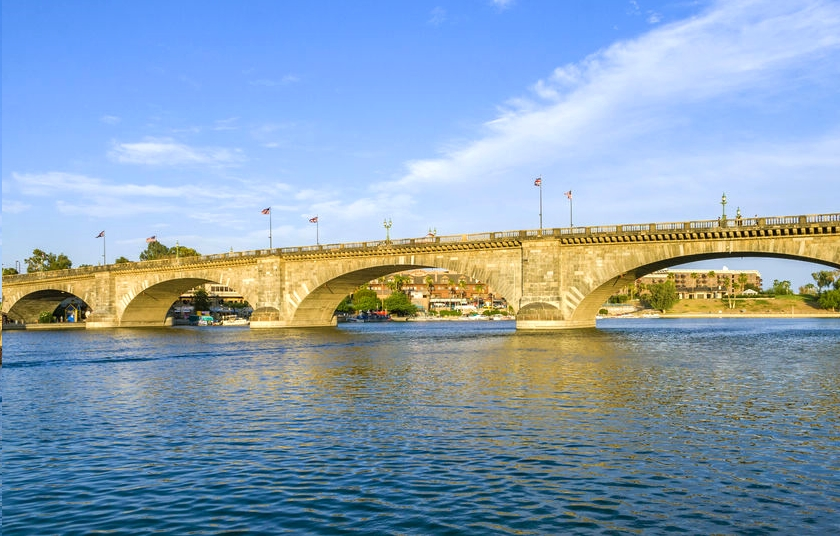 Scenic View of London Bridge Over Lake Havasu