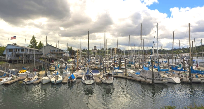 Marina in Olympia Washington Waterfront