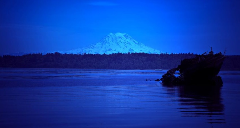 Mt. Rainier Overlooking Budd Inlet in Olympia