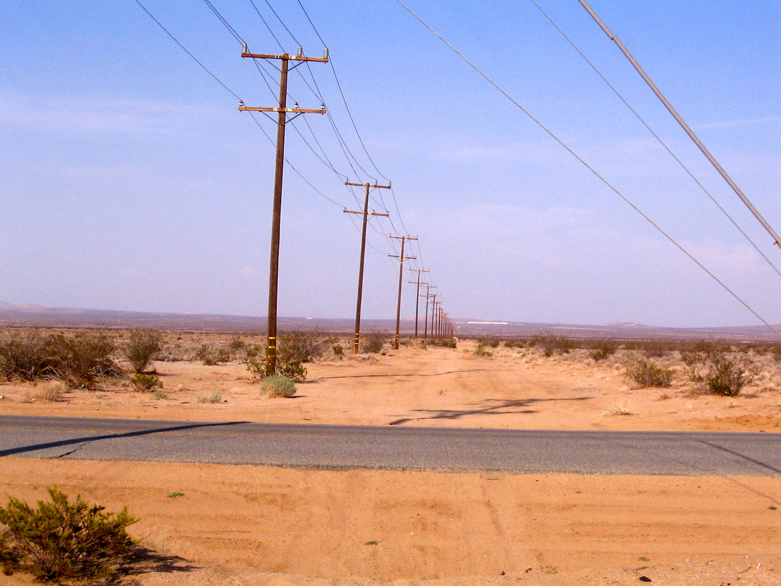Power Lines On Access Road