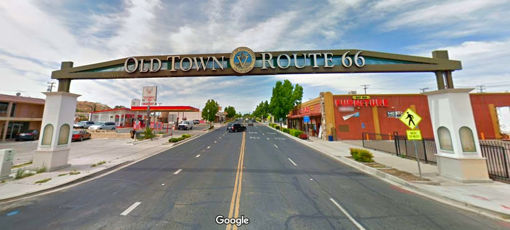 Old Downtown Route 66 Sign in Victorville